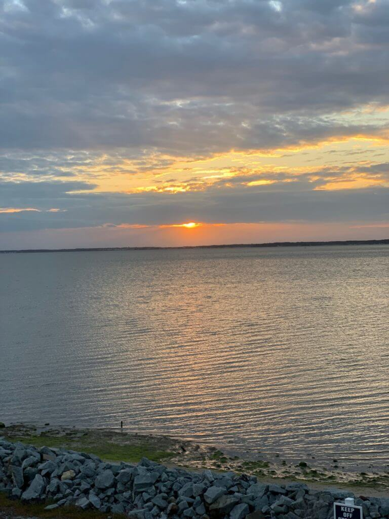 Sunset over the Bay in Ocean View, DE