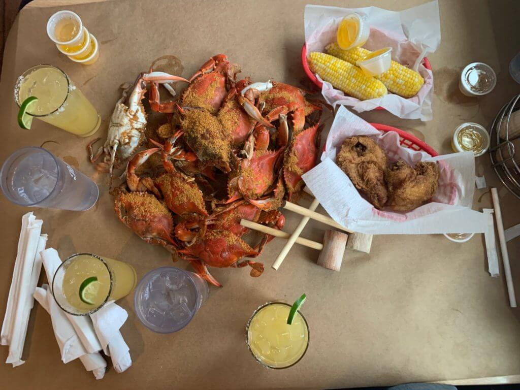 Crab Feast at Mickey's Crab House in DE