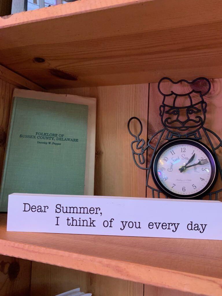 Dear Summer sign