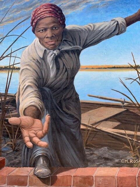 Mural of Harriet Tubman in Cambridge, MD