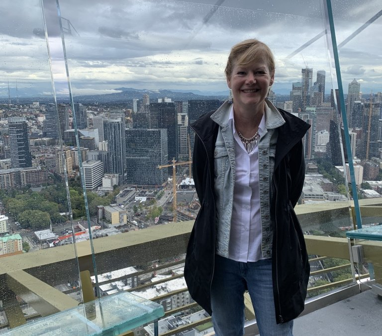 Visiting the Space Needle, Seattle, WA