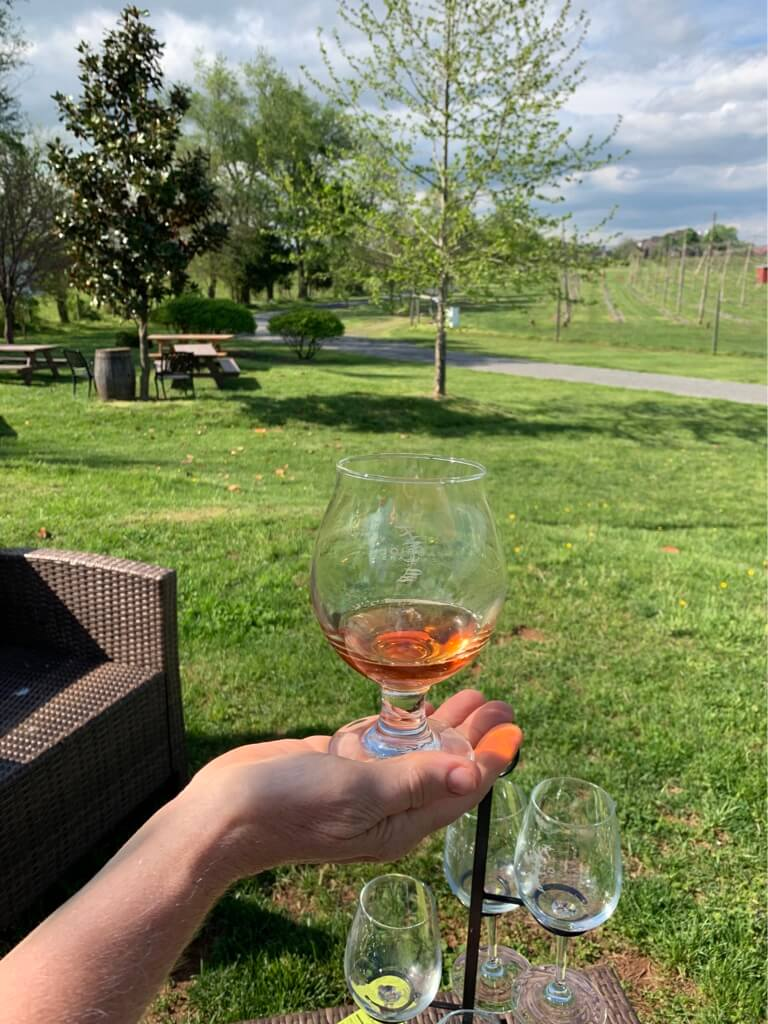 Ciders and wine at a Loudoun County vineyard