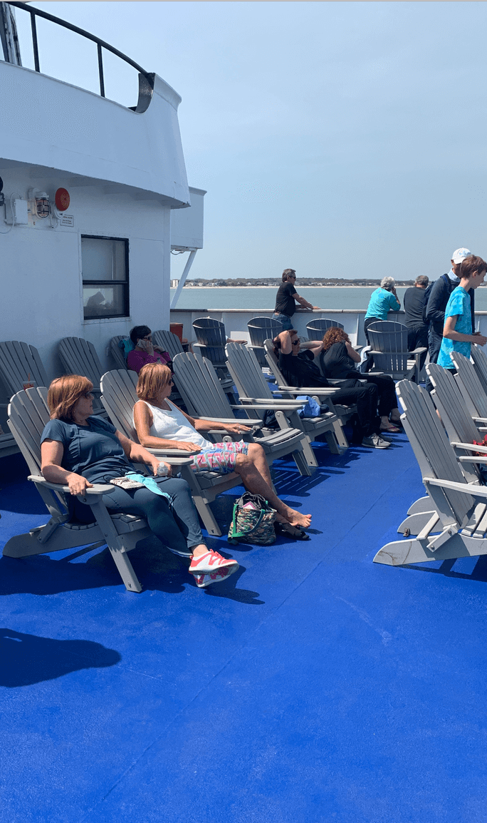 Sitting on the deck of the Cape May - Lewes Ferry