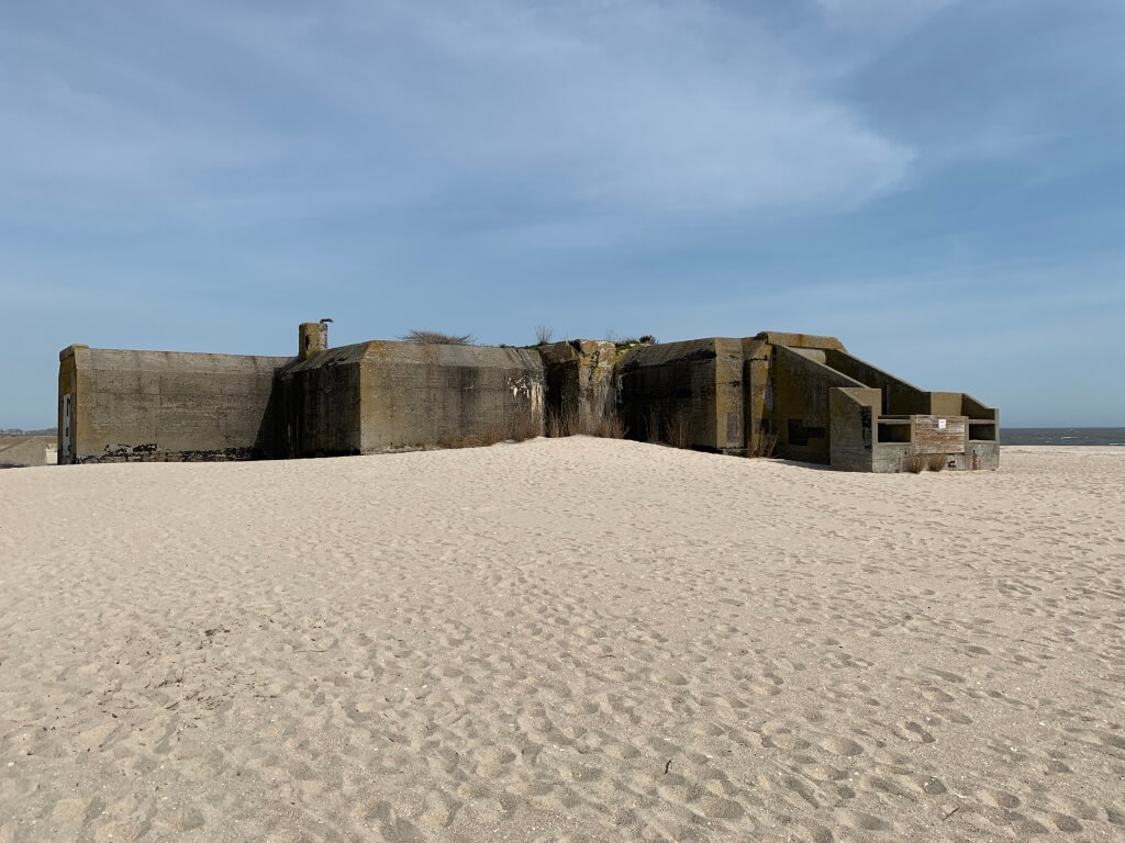 WWII defense bunker on Cape May shore