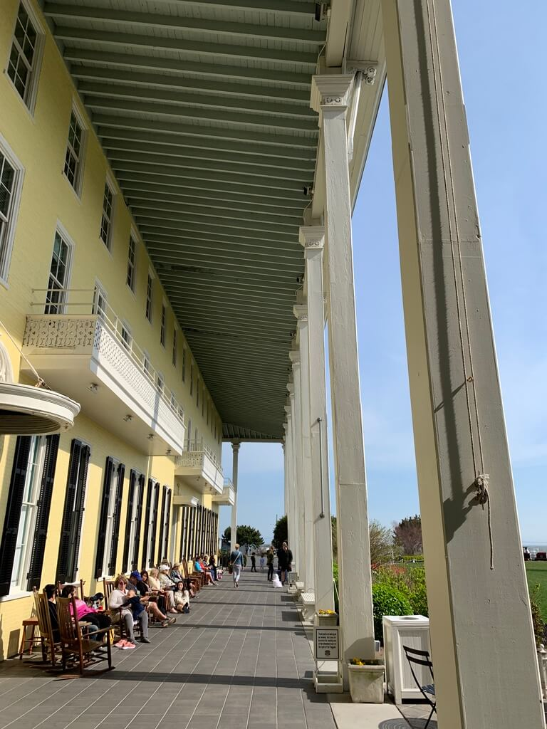 Back veranda of Congress Hall