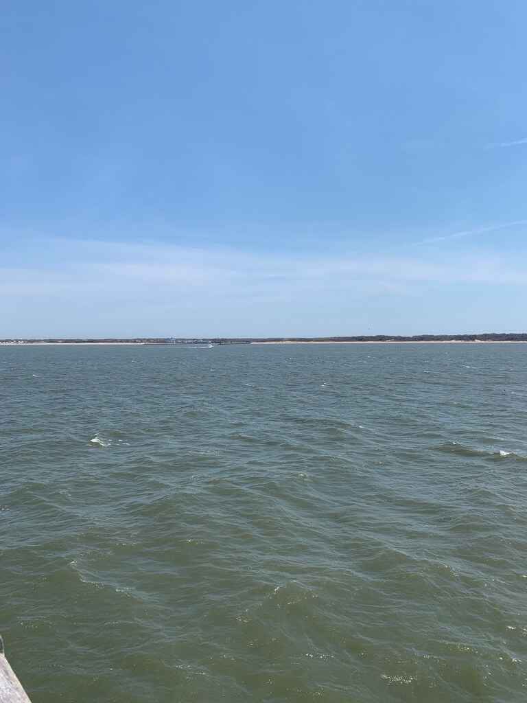 View of the Delaware Bay from the Cape May ferry