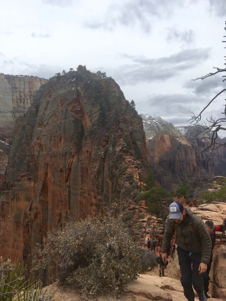 Angel's Landing trail at Zion